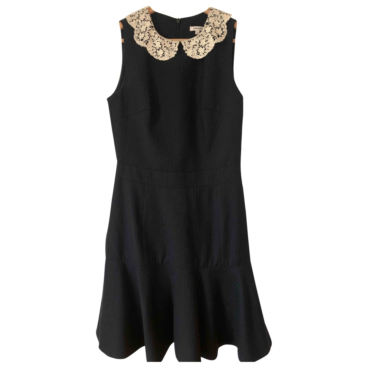 Manoush \N Kleid in  Anthrazit Synthetik