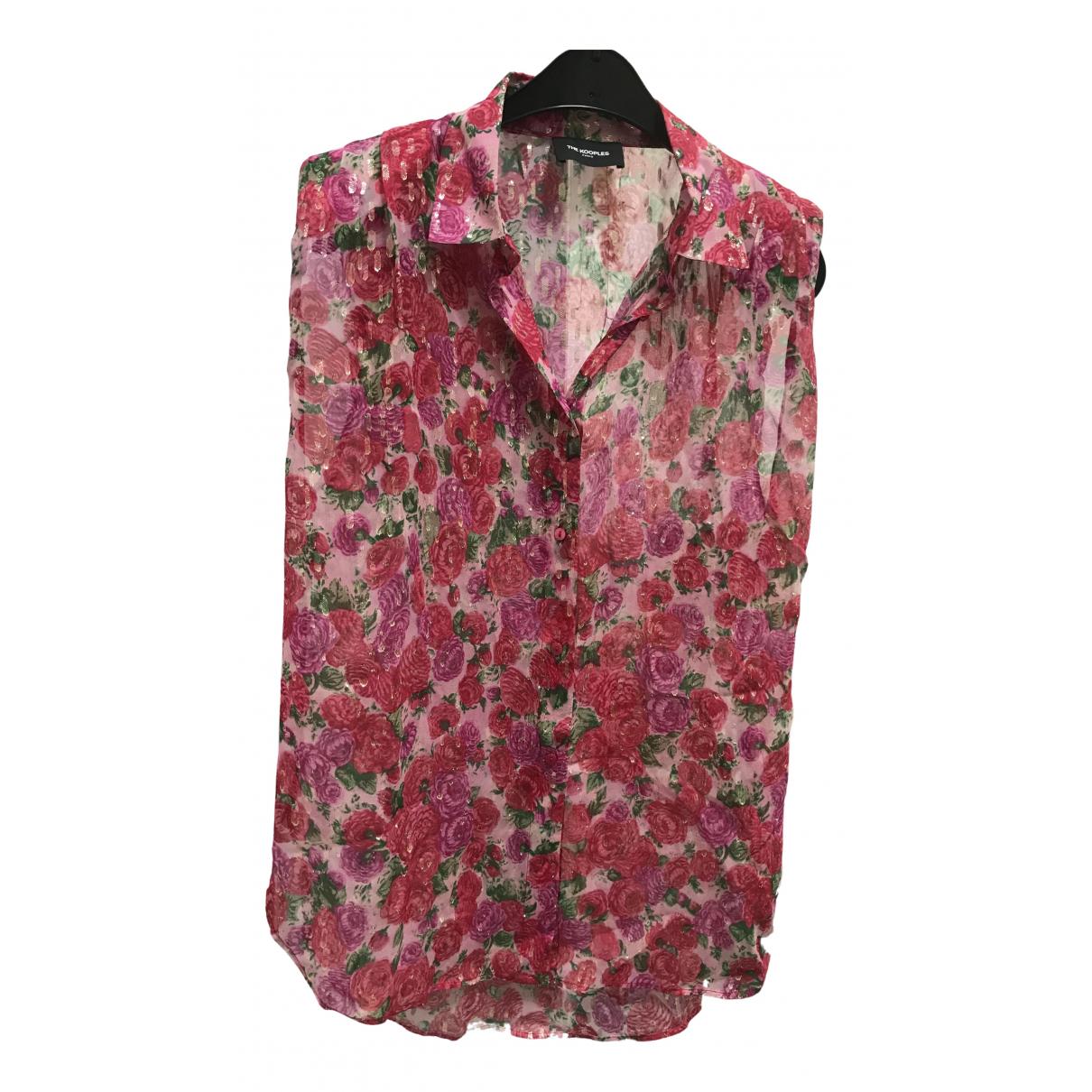 The Kooples Spring Summer 2019 Pink Silk  top for Women 3 0-5