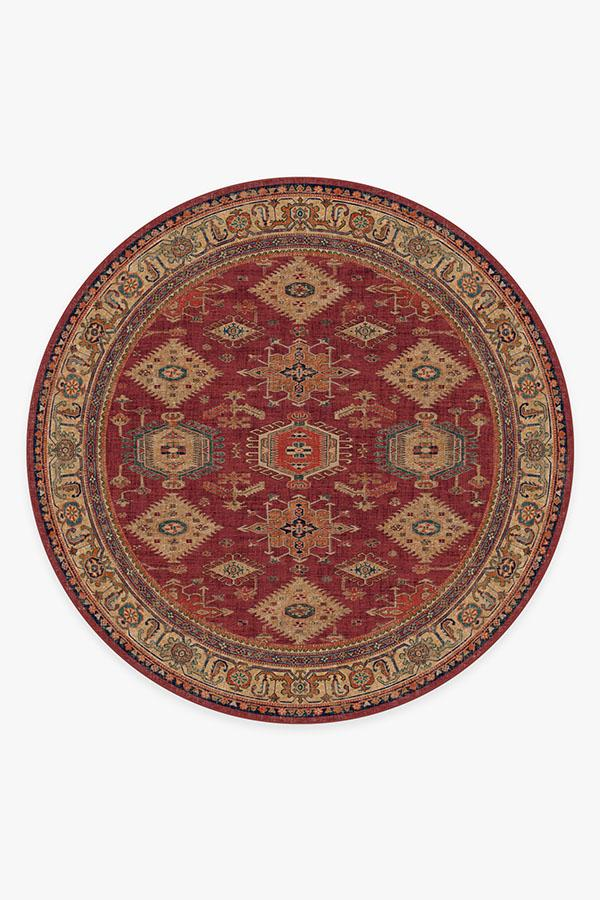 Washable Rug Cover | Cambria Ruby Rug | Stain-Resistant | Ruggable | 8' Round