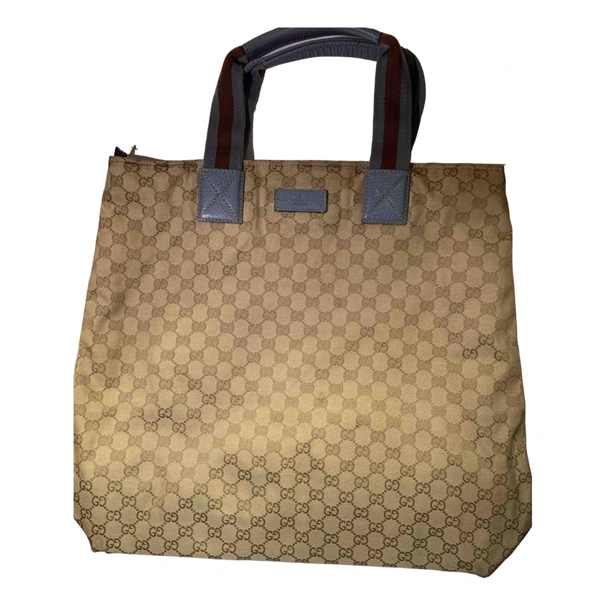 Gucci \N Beige Cloth Travel bag for Women \N