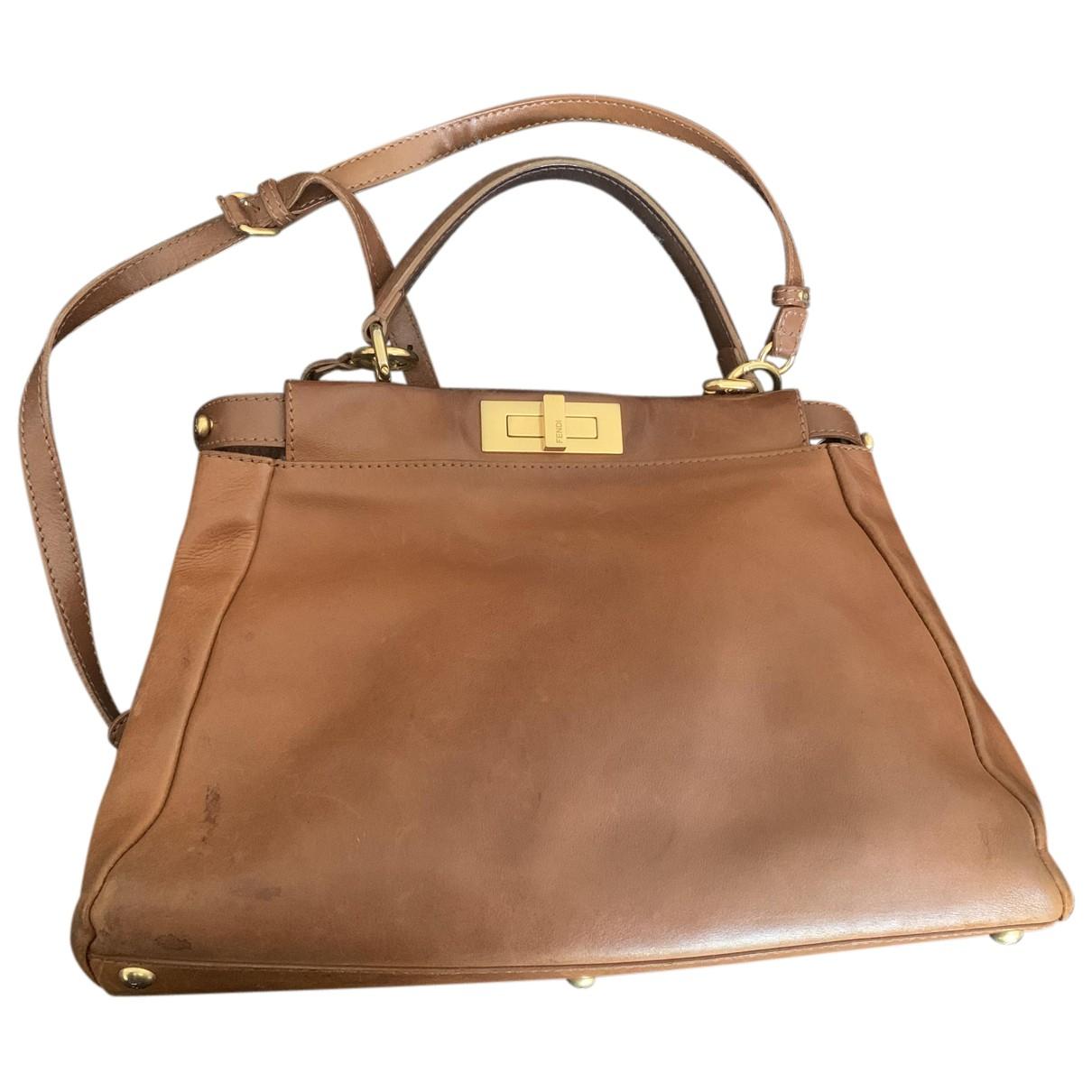 Fendi Peekaboo Camel Leather handbag for Women N