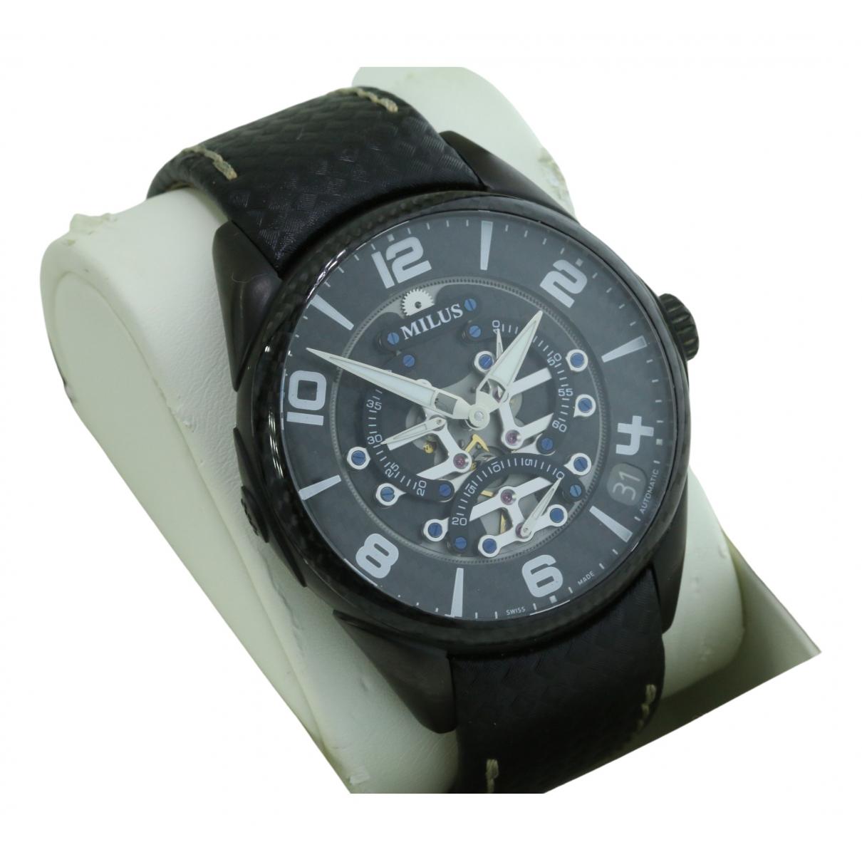 Milus \N Uhr in  Schwarz Stahl