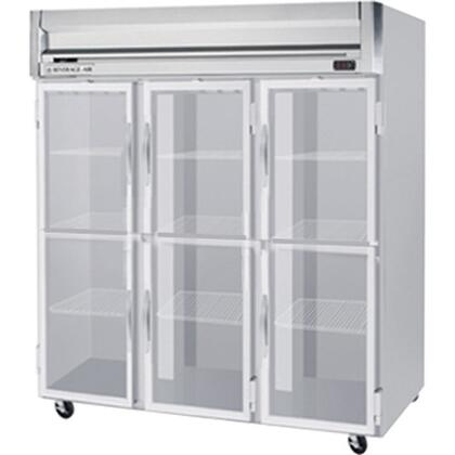 HFS3-5HG 78 Horizon Series Three Section Glass Half Door Reach-In Freezer  74 cu.ft. Capacity  Stainless Steel Front  Gray Painted Sides and