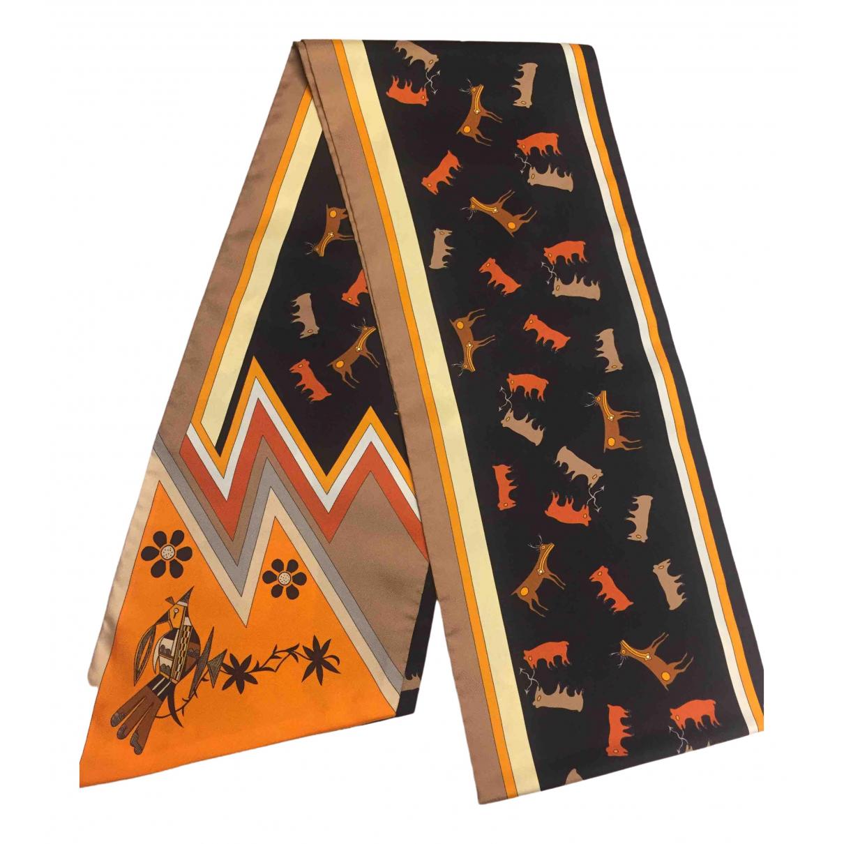 Hermès Maxi twilly Multicolour Silk scarf for Women \N