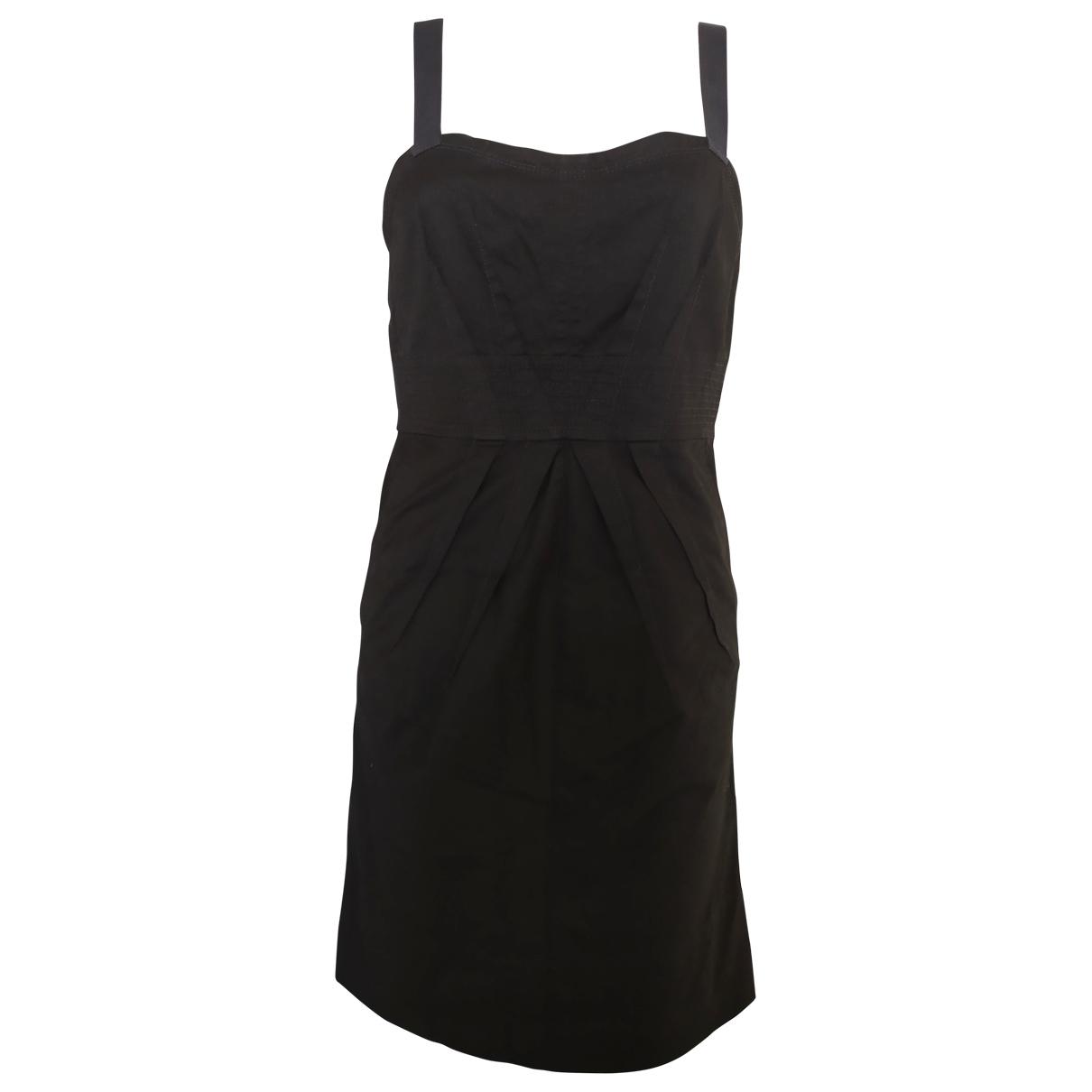 Marc By Marc Jacobs \N Kleid in  Schwarz Baumwolle