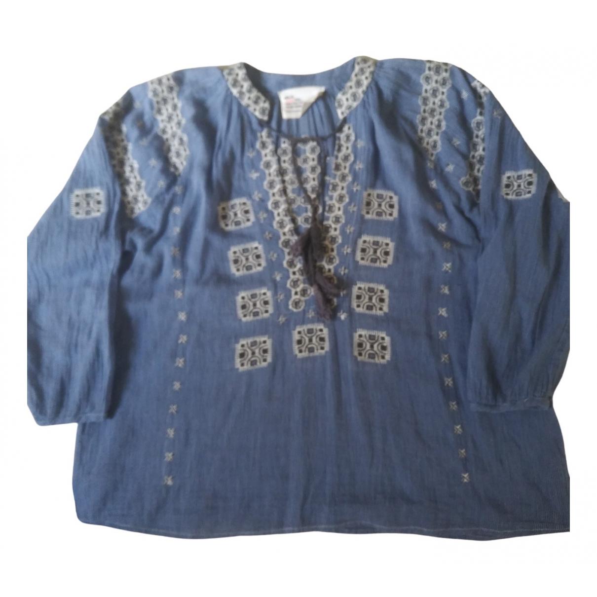 Leon & Harper - Top   pour femme en coton - bleu