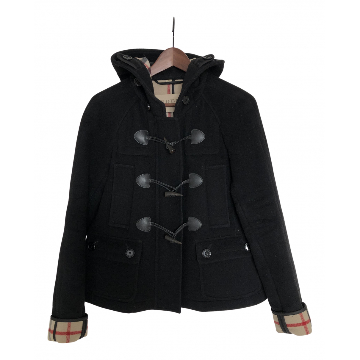 Burberry \N Maentel in  Schwarz Wolle