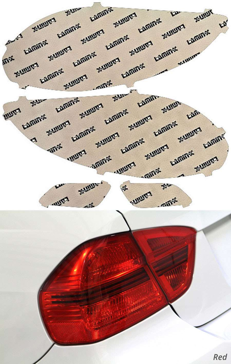 Hyundai Veloster 12-18 Red Tail Light Covers Lamin-X HY219R