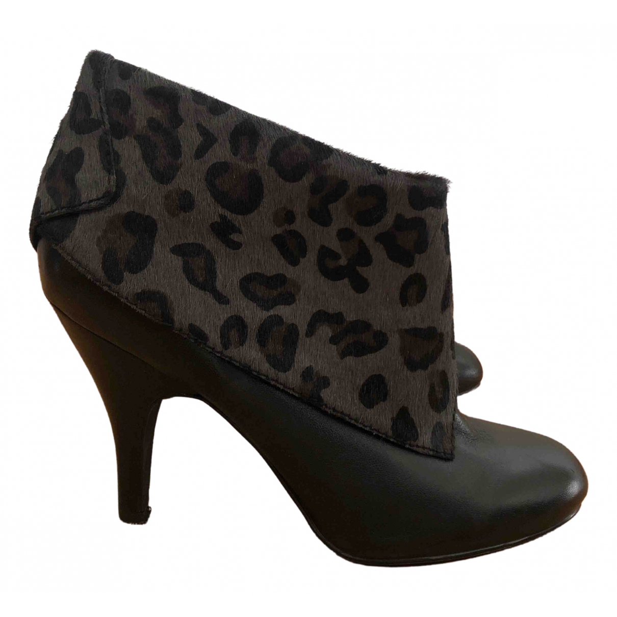 Nine West N Black Leather Ankle boots for Women 39 EU