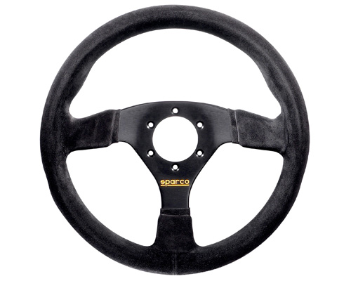 Sparco 015R383PSN 383 Suede Universal Racing Steering Wheel