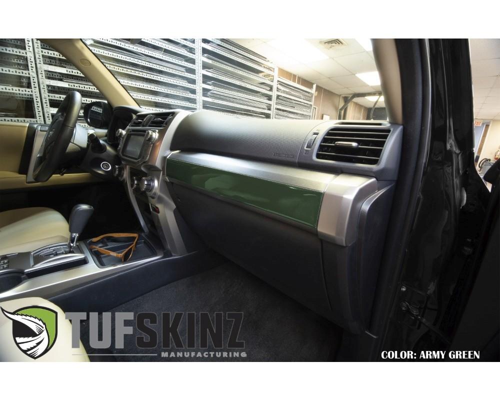 Tufskinz RUN013-TAG-G Glove Box Accent Trim Fits 2014-2020 Toyota 4Runner 1 Piece Kit In Army Green