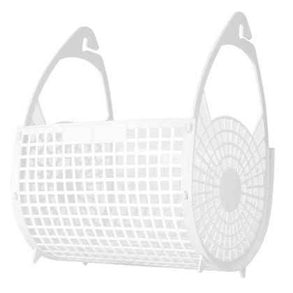 Panier pliant en plastique 20x24x15cm blanc 1Pc - LivingBasics ™