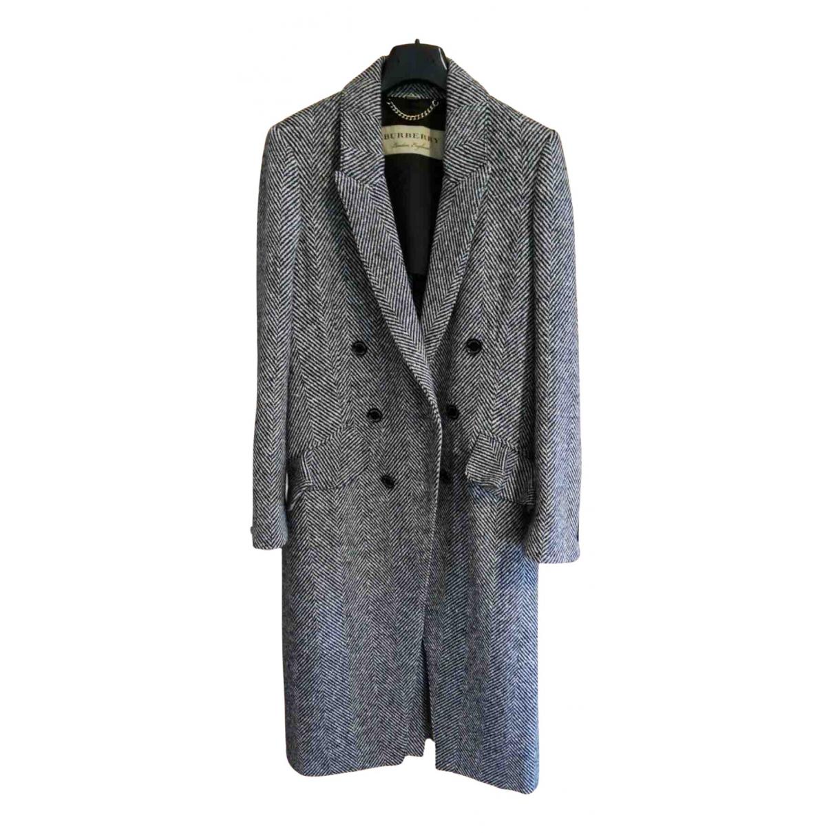 Burberry N Black Wool coat for Women 42 IT
