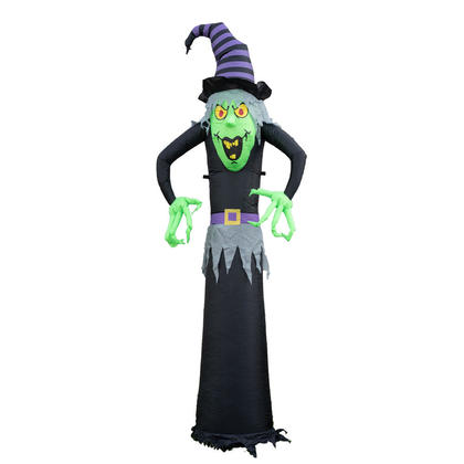 Halloween Airblown Witch Inflatable Wicked with Lights & Blower 8ft