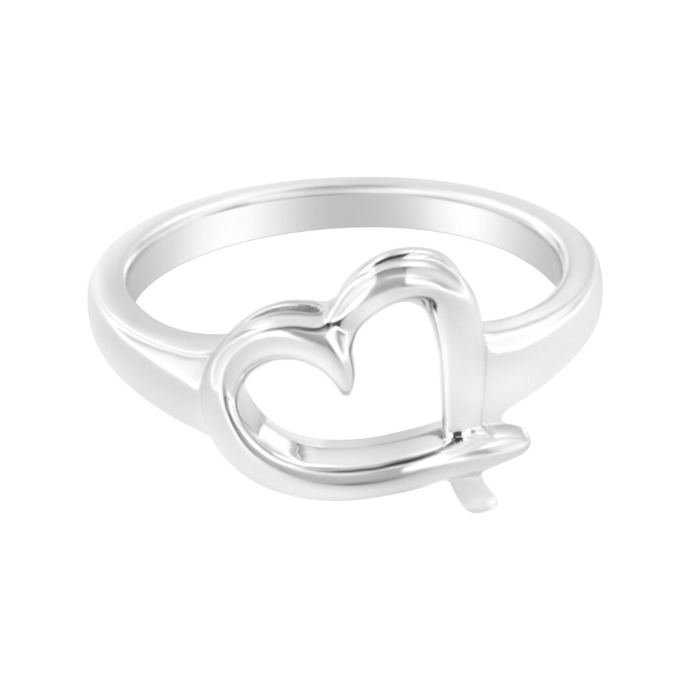.925 Sterling Silver Heart Carved Promise Ring (7)