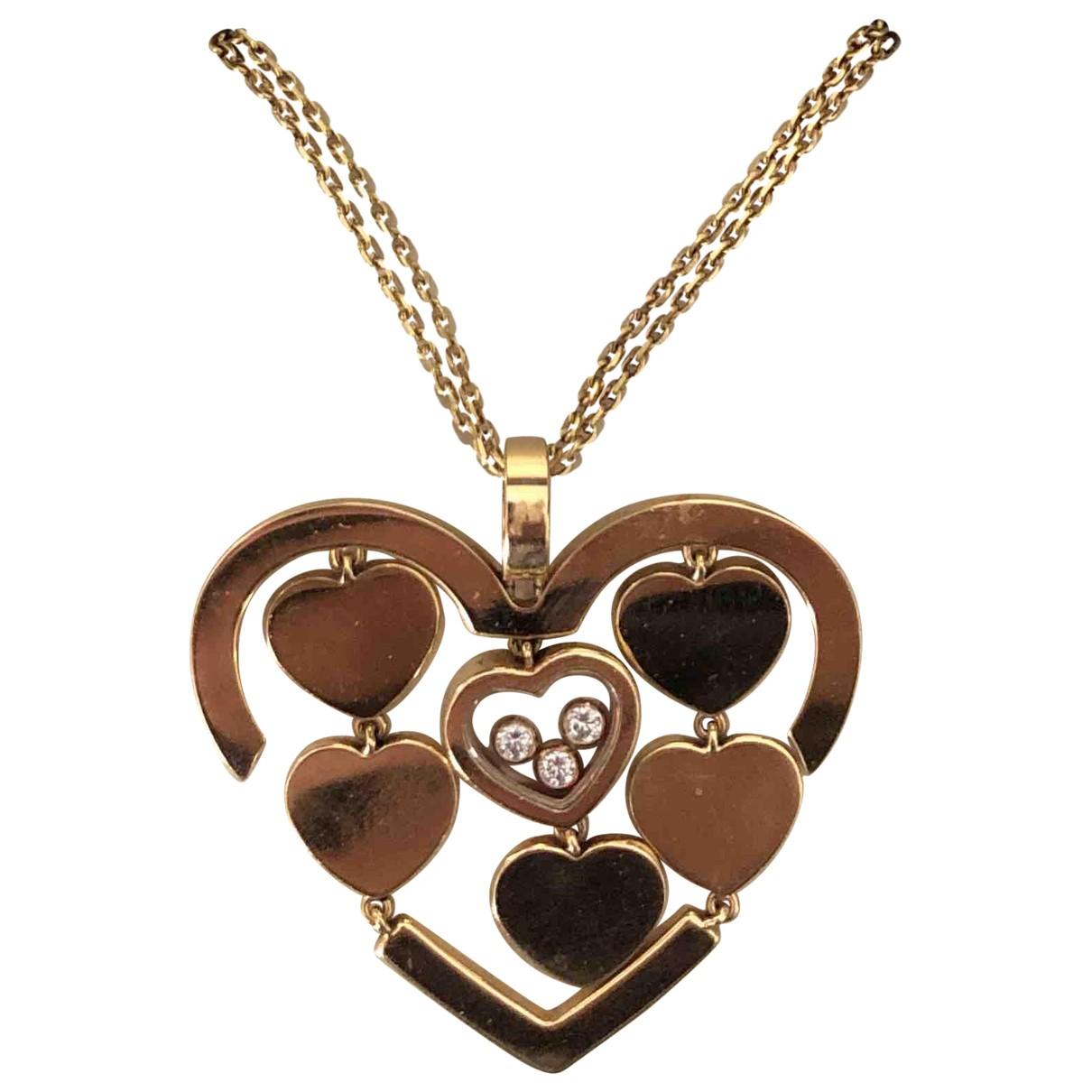 Chopard - Pendentif Happy Hearts pour femme en or rose - rose
