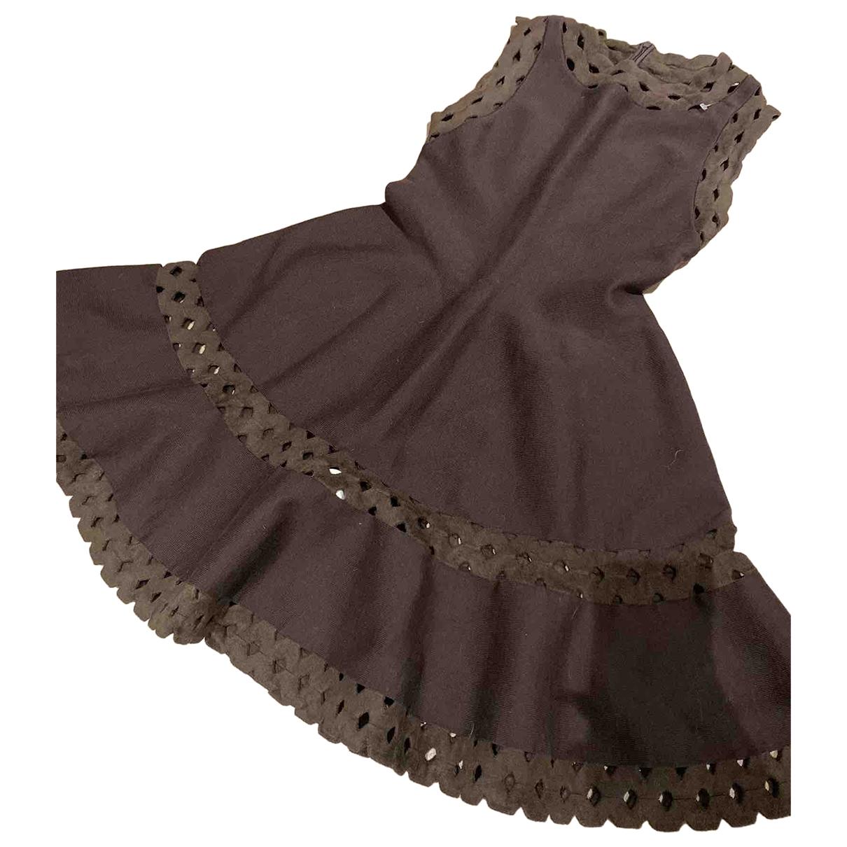 Alaia \N Kleid in  Braun Wolle