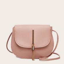 Metal Tassel Charm Saddle Bag