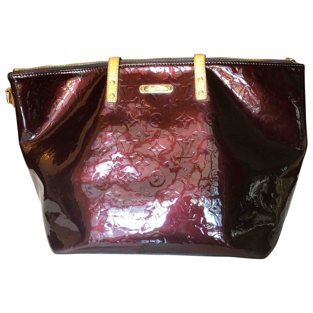 Louis Vuitton Bellevue Burgundy Patent leather handbag for Women \N