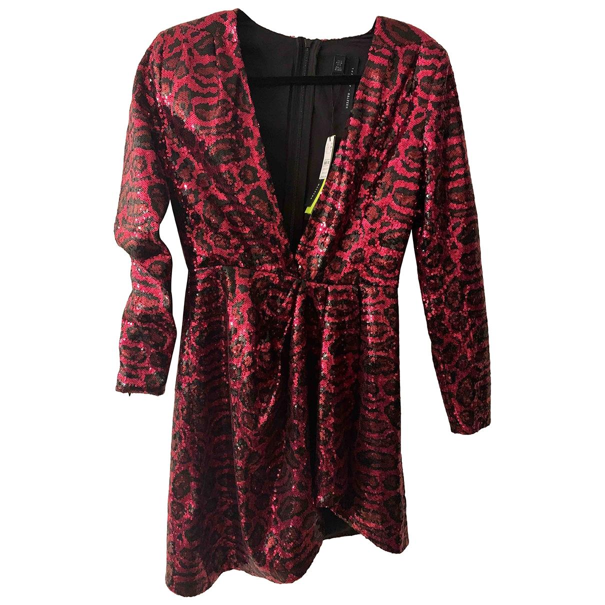 Topshop - Robe   pour femme en a paillettes - rose