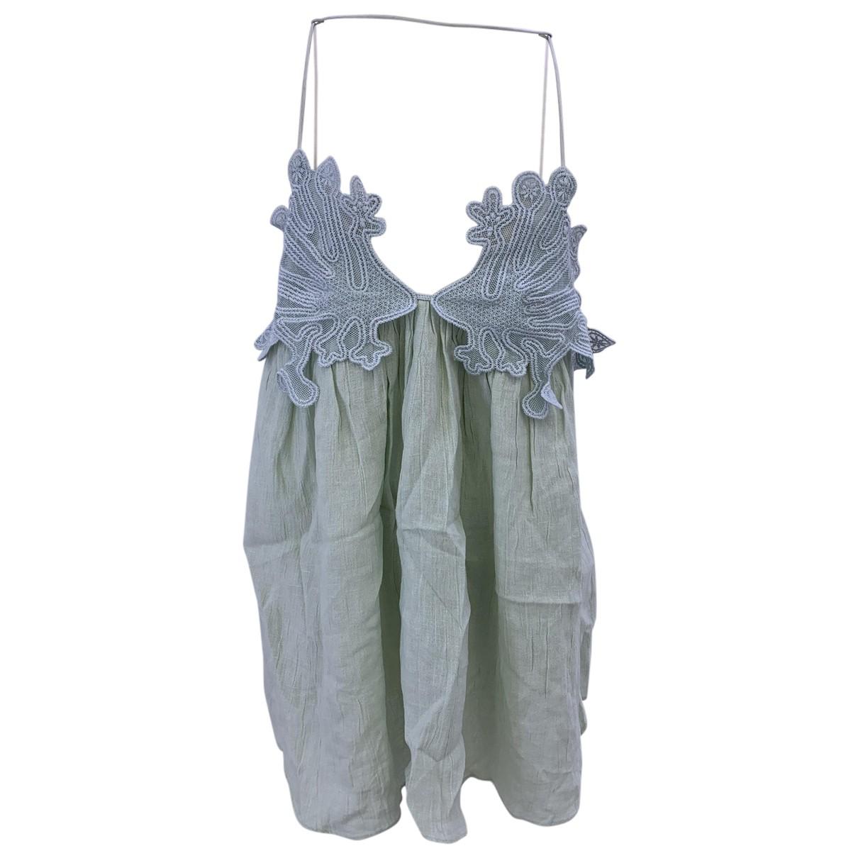 Chloe - Top   pour femme en lin - vert