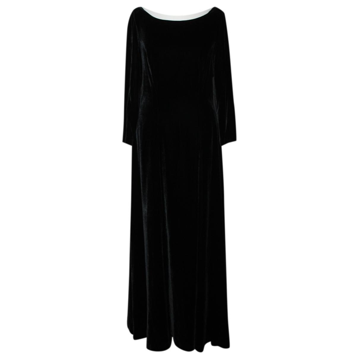 Toast \N Kleid in  Schwarz Samt