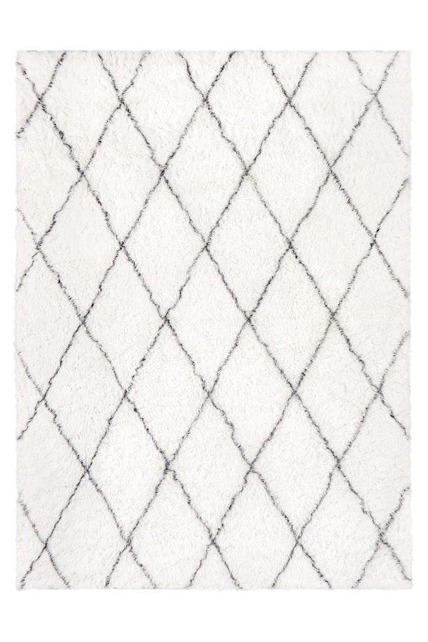 Washable Rug Cover & Pad | Plush Moroccan Diamond Rug | Stain-Resistant | Ruggable | 5'x7'