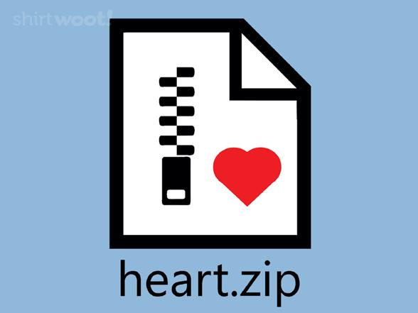 Zipped Heart T Shirt