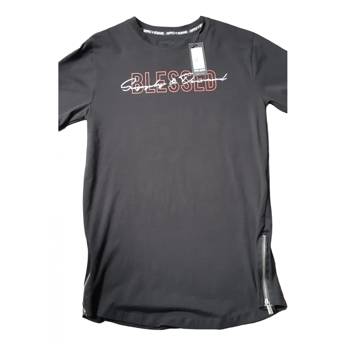 Non Signé / Unsigned \N Black Cotton T-shirts for Men M International