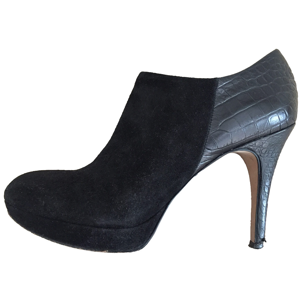 Vince Camuto - Boots   pour femme en suede - noir
