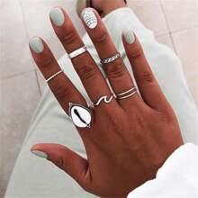 7pcs Seashell Decor Ring