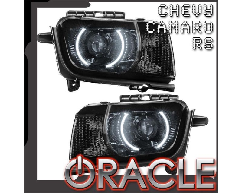 Oracle Lighting 7727-003 Pre-Assembled Headlights - Projector/HID LED Halo Kit Red Chevrolet Camaro 2010-2013