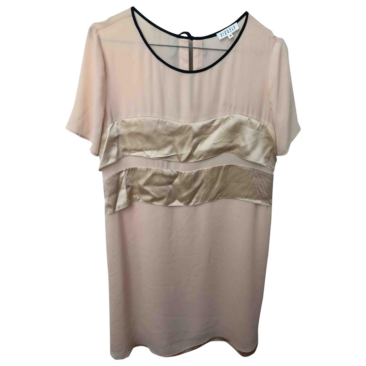 Claudie Pierlot \N Kleid in  Rosa Seide