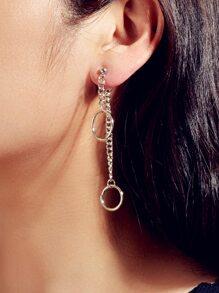 Chain Design Earring Jackets