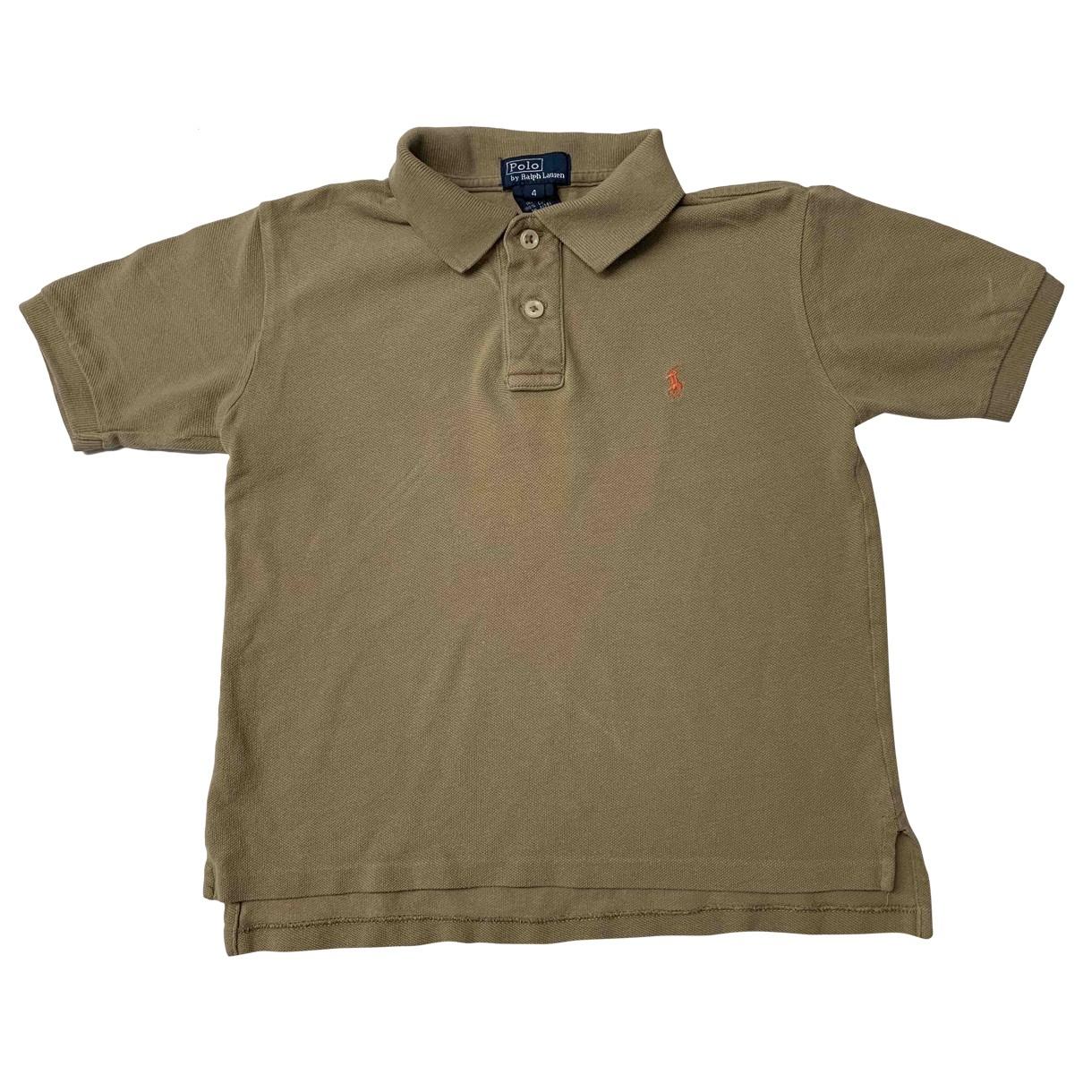 Polo Ralph Lauren - Top   pour enfant en coton - camel