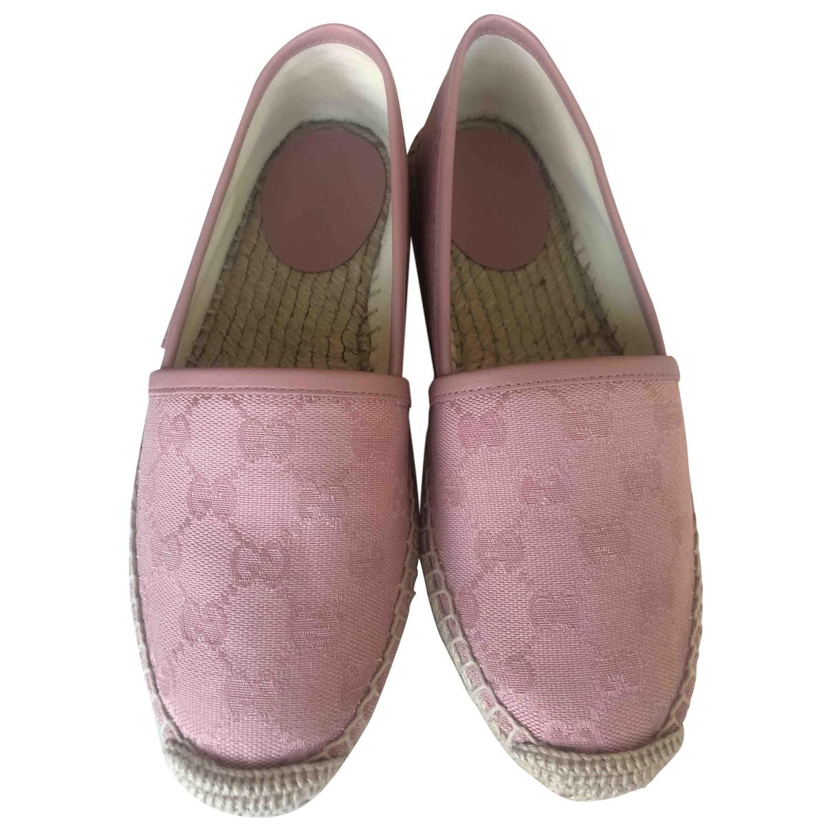 Gucci - Espadrilles   pour femme en toile - rose