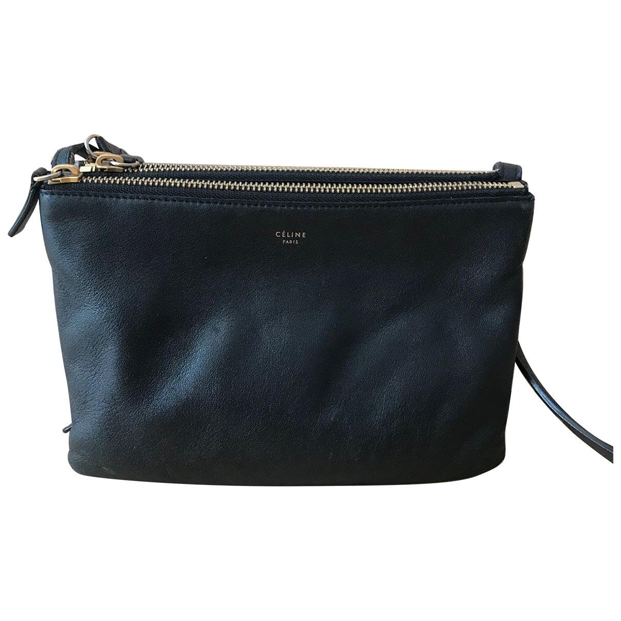 Celine Trio Black Leather handbag for Women \N