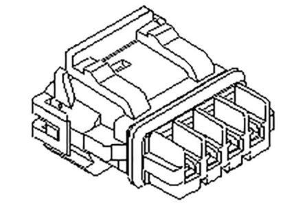 Molex Male Crimp Connector Housing, 5mm Pitch, 2 Way, 1 Row (900)