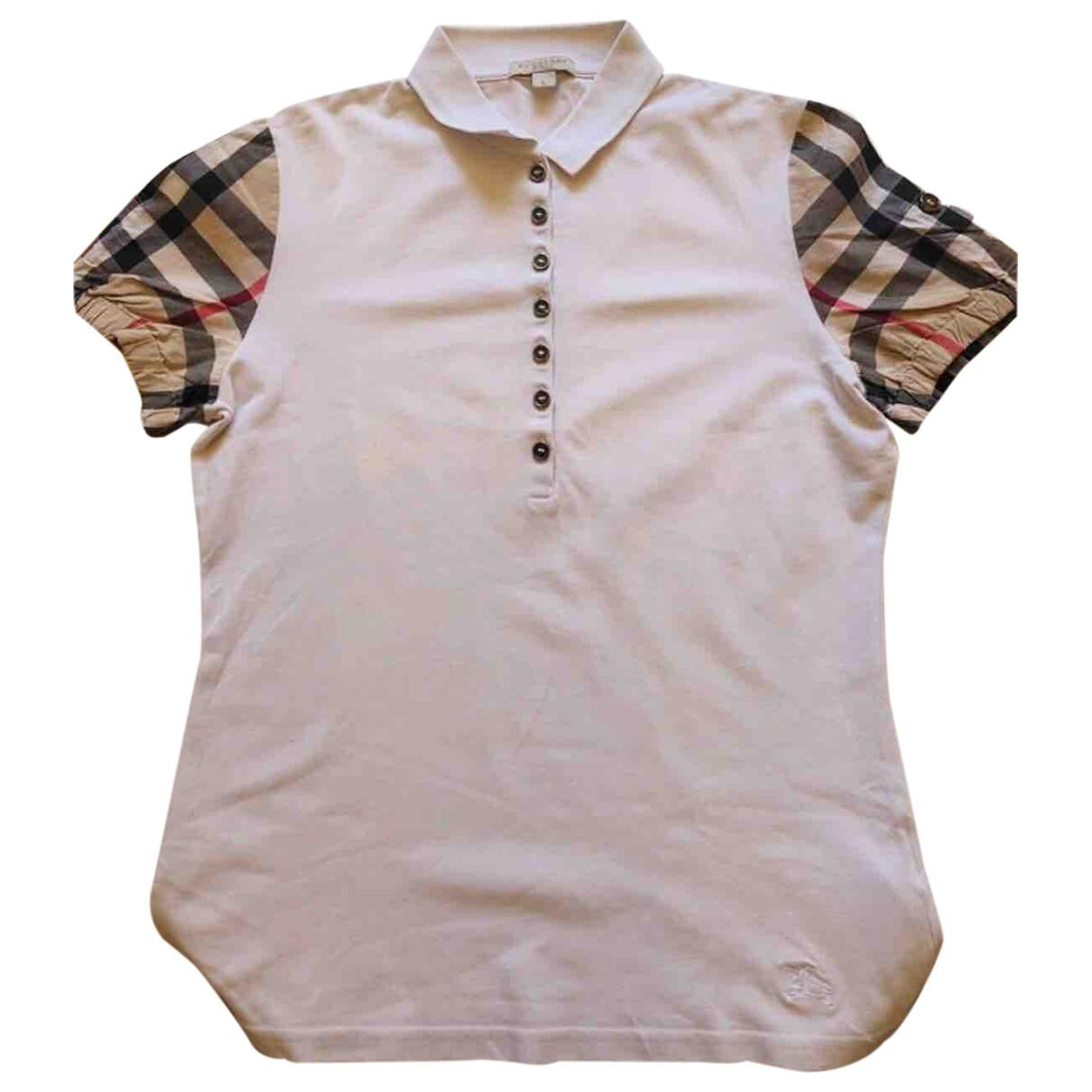 Burberry \N Top in  Weiss Baumwolle