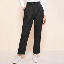 Vertical Striped Tailored Pants