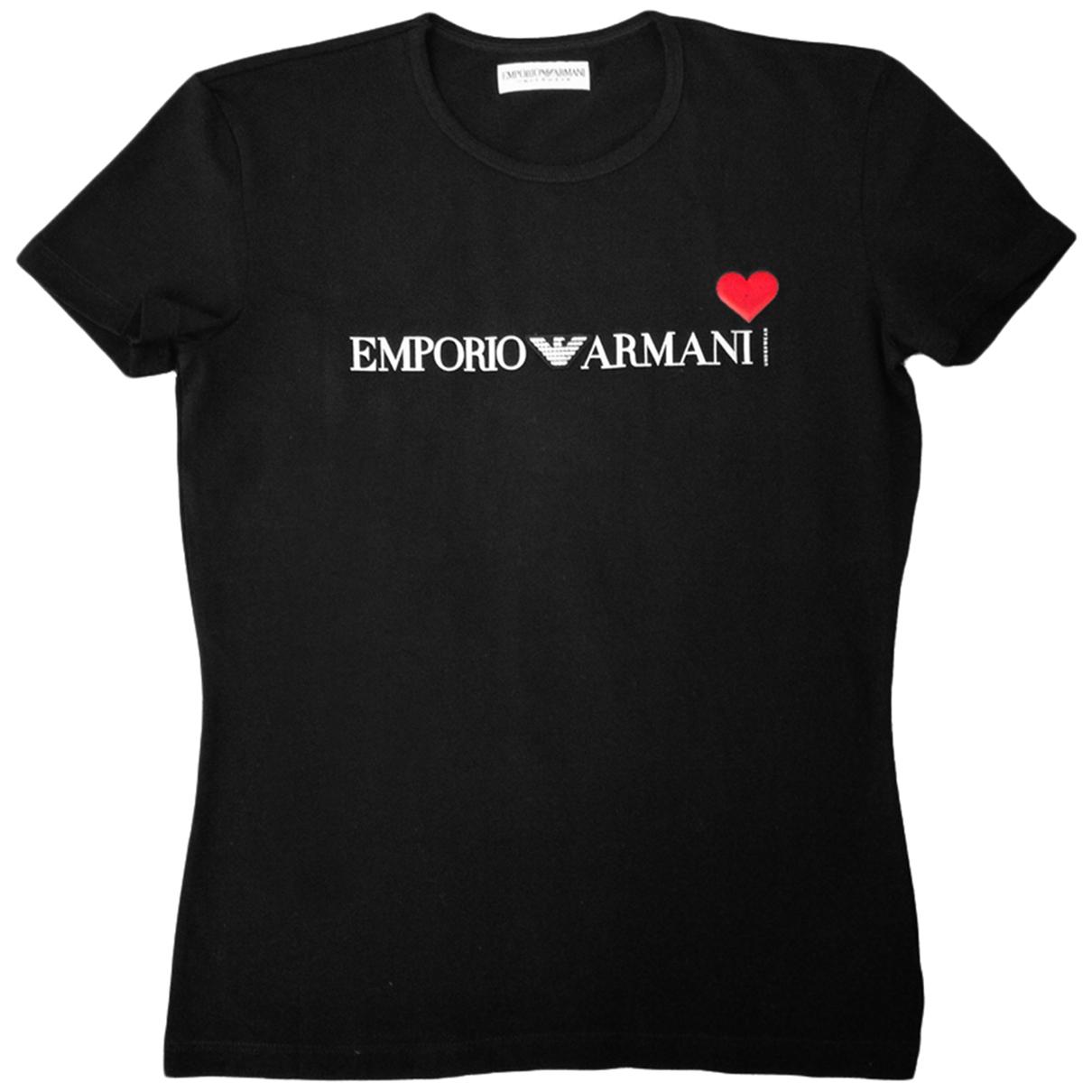Emporio Armani \N Top in  Schwarz Baumwolle