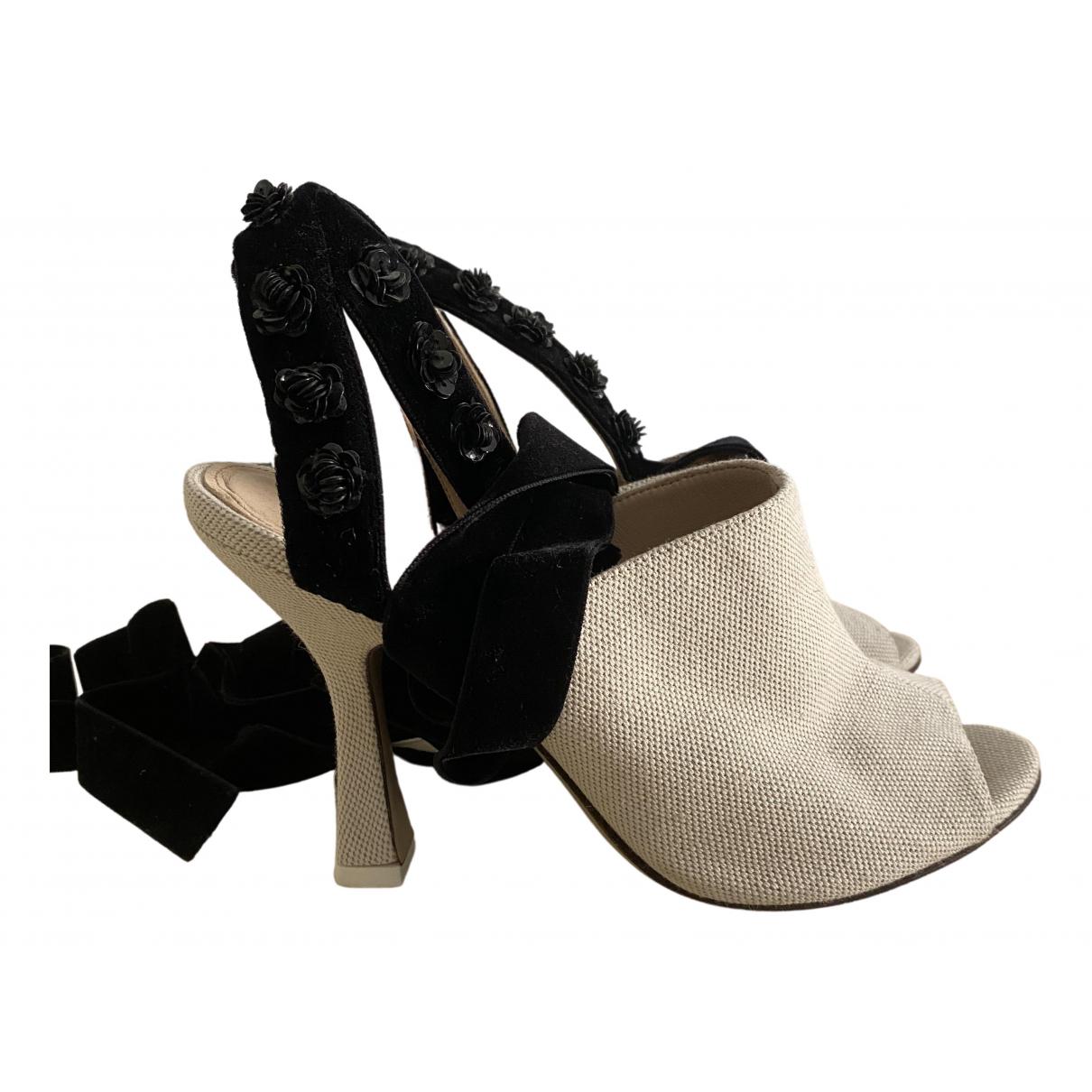 Attico \N Beige Cloth Heels for Women 39 EU