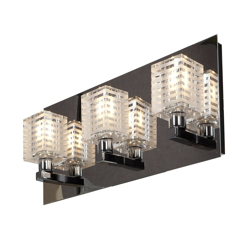 Access Lighting Sophie 2 Light Etched Crystal Vanity (Chrome)