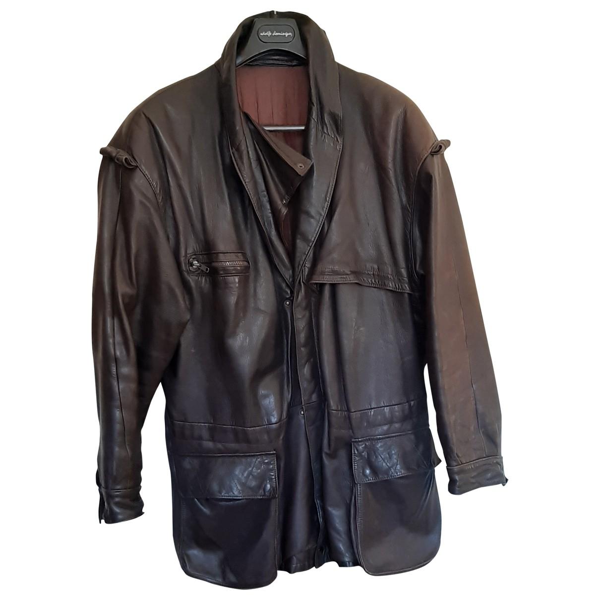 Loewe \N Brown Leather jacket  for Men L