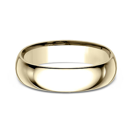Mens10K Yellow Gold 6MM Comfort-Fit Wedding Band, 13 1/2 , No Color Family