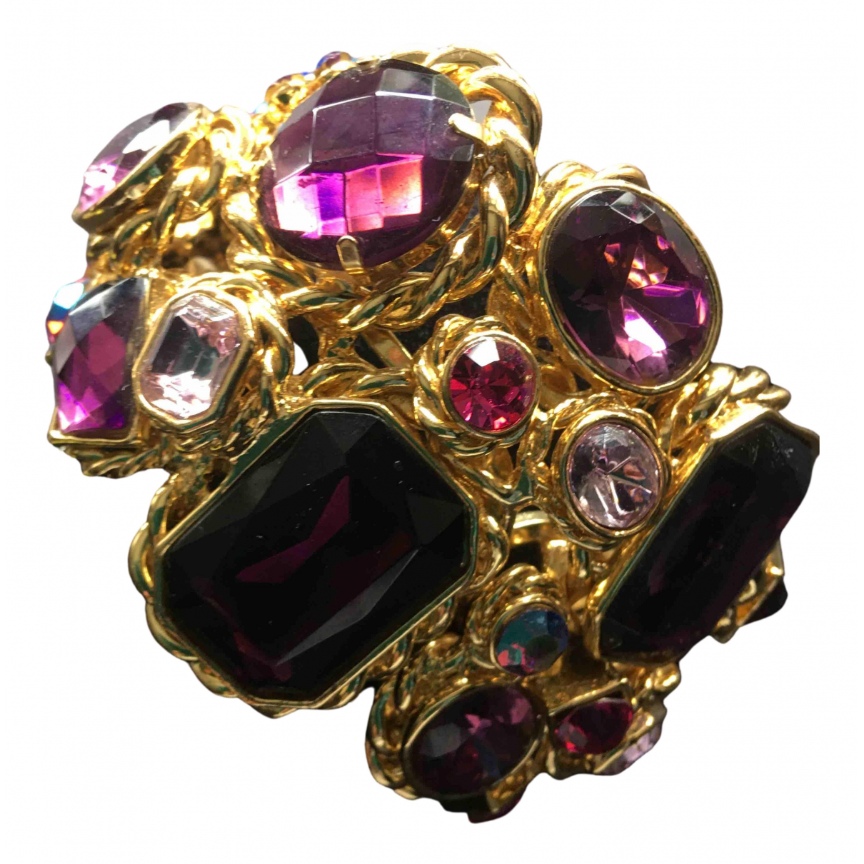 Non Signe / Unsigned Amethyste Armband in  Gold Kristall