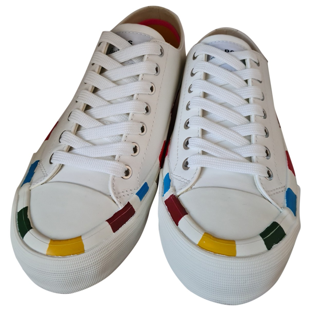 Paul Smith N White Leather Trainers for Women 37 EU