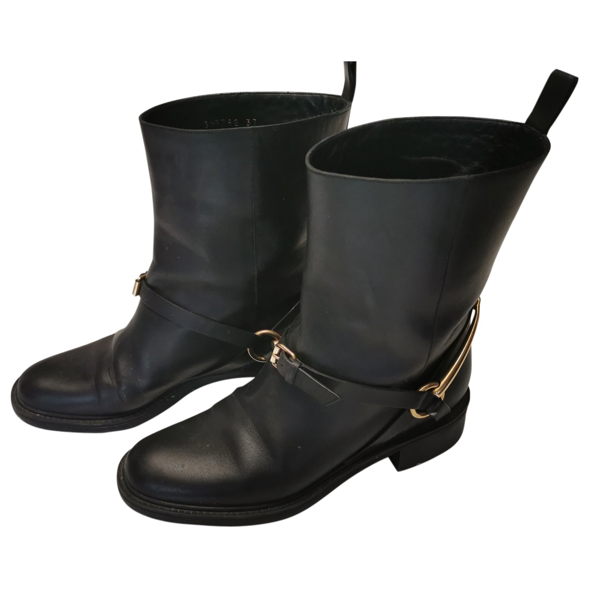 Gucci \N Black Leather Ankle boots for Women 37 EU