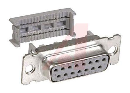 3M , 8300 1.27mm Pitch 15 Way IDC D-sub Connector, Socket, PBT Shell
