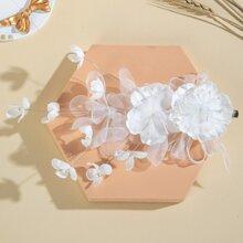 Haar Accessory mit Netzstoff Blumen Dekor